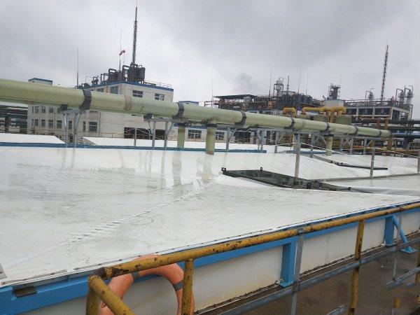 自清洁的污水池反吊膜