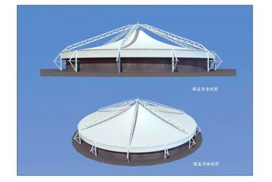 污水池反吊膜膜材的老化性能及维护检查