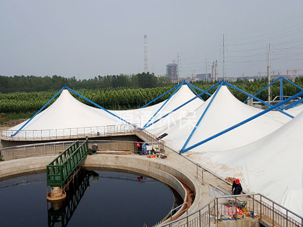 污水池反吊膜加盖